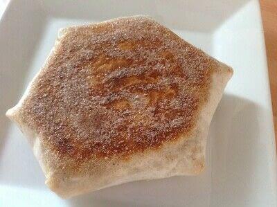 How to make a dessert / sweet. S'mores Crunchy Wrap - Step 3