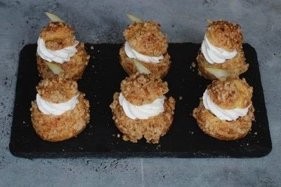 How to bake a pastry. Choux With Chantilly And Pear - Step 23