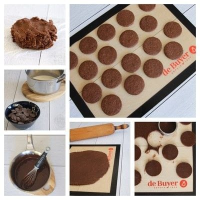 How to bake a sandwich cookie. Chocolate And Hazelnut Biscuits - Step 12