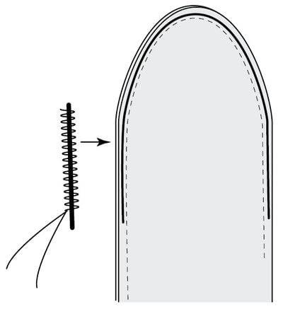 How to make a fabric headband. Phoebe Headband - Step 3