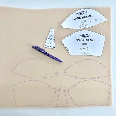 How to make a bra. Vintage Liner Bra - Step 3