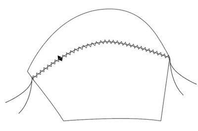 How to make a bra. Vintage Liner Bra - Step 5