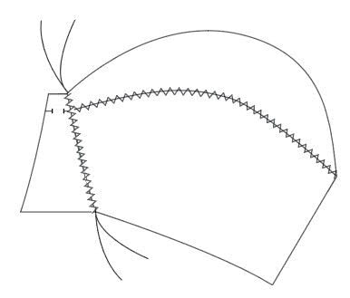 How to make a bra. Vintage Liner Bra - Step 6