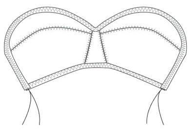 How to make a bra. Vintage Liner Bra - Step 9