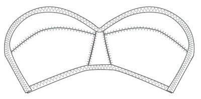 How to make a bra. Vintage Liner Bra - Step 10