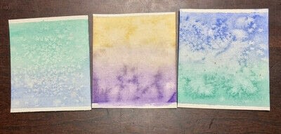 How to paint a piece of watercolor art. Card Making Part 1: Watercolor Card Covers - Step 4