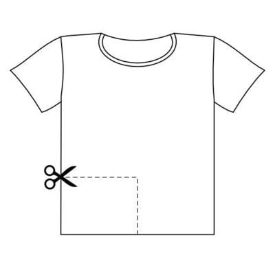 How to make a surgical mask. Easy T Shirt Face Mask - Step 2