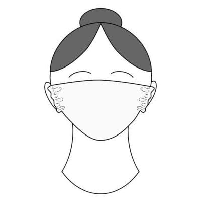 How to make a surgical mask. Easy T Shirt Face Mask - Step 8