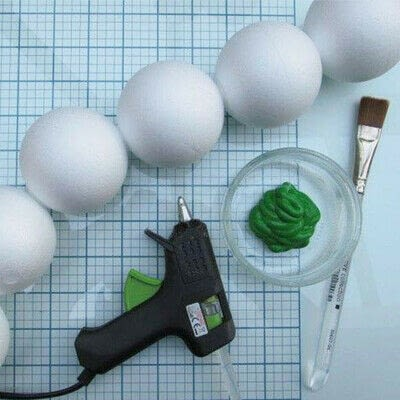 How to make a mixed media. Cute Stryofoam Caterpillars - Step 2