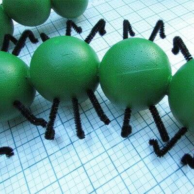 How to make a mixed media. Cute Stryofoam Caterpillars - Step 4