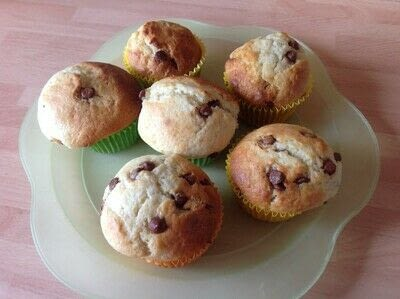 How to bake a chocolate chip muffin. Chocolate Chip Muffins  - Step 6