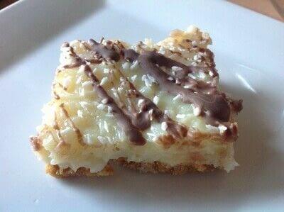 How to bake a bar / slice. Coconut Joy Bars - Step 7
