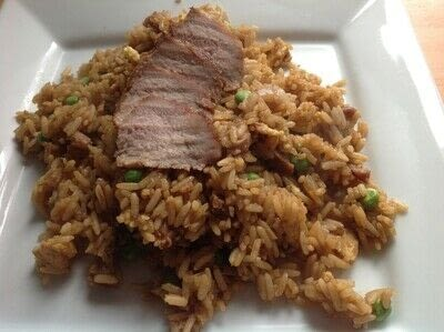 How to cook a pork dish. Char Su Fried Rice - Step 7