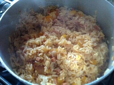 How to cook a rice dish. Smoked Sausage Rice Casserole  - Step 6