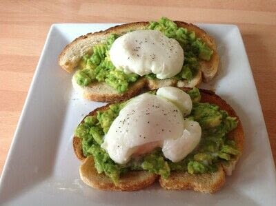 How to make a breakfast / cereal. Avocado Toast - Step 2