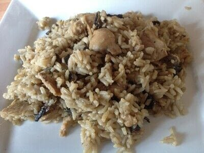How to cook a rice dish. Chicken & Mushroom Rice - Step 5