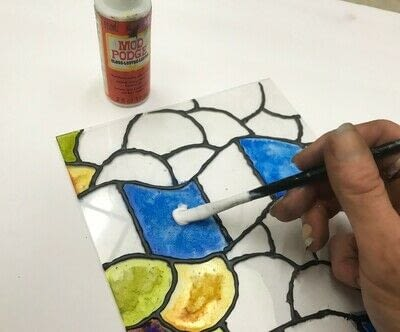 How to make a sun catcher. Diy: Stained Glass Craft - Step 4