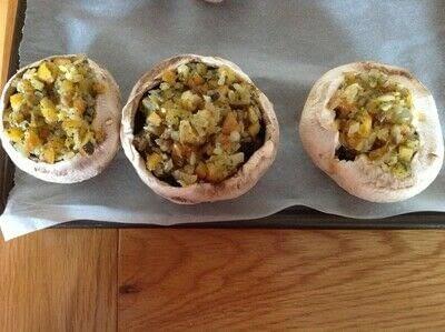 How to cook a mushroom. Stuffed Mushrooms  - Step 4