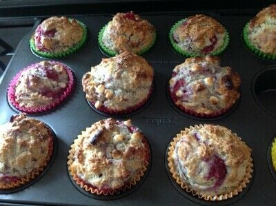 How to bake a muffin. Raspberry Muffins  - Step 7