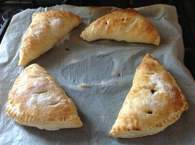 How to bake a pastry. Cherry Turnovers  - Step 6