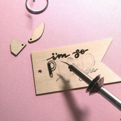 How to create a piece of lettering art. Hand Lettered Wooden Gift Tag - Step 2