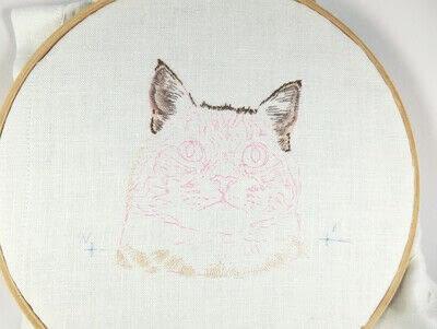 How to make a needlecraft. Tabby Pocket Cat - Step 4