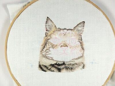 How to make a needlecraft. Tabby Pocket Cat - Step 19