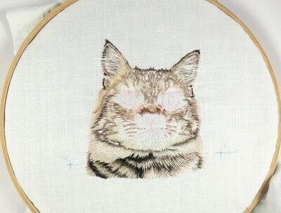 How to make a needlecraft. Tabby Pocket Cat - Step 28