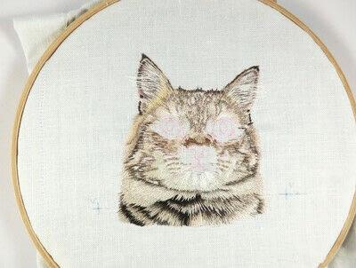 How to make a needlecraft. Tabby Pocket Cat - Step 30