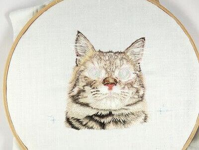 How to make a needlecraft. Tabby Pocket Cat - Step 36
