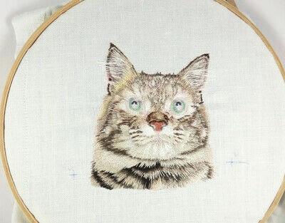 How to make a needlecraft. Tabby Pocket Cat - Step 38