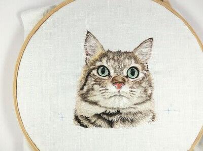 How to make a needlecraft. Tabby Pocket Cat - Step 41