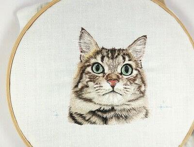 How to make a needlecraft. Tabby Pocket Cat - Step 42