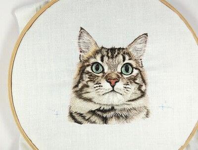 How to make a needlecraft. Tabby Pocket Cat - Step 44