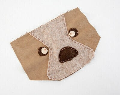 How to make a backpack. Bear Pocket Backpack - Step 5