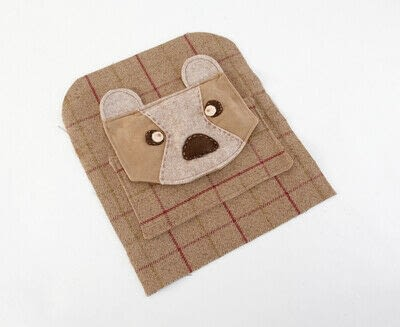 How to make a backpack. Bear Pocket Backpack - Step 12