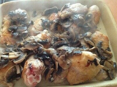 How to cook a chicken dish. Chicken & creamy Mushrooms  - Step 4