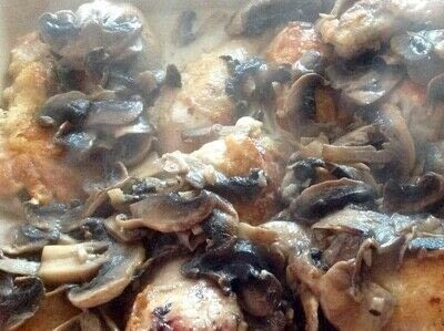 How to cook a chicken dish. Chicken & creamy Mushrooms  - Step 5