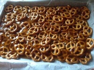 How to bake a bar / slice. Salted Pretzel Bars - Step 3