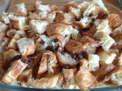 How to bake a bread pudding. Croissant Pudding  - Step 3