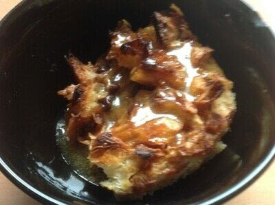 How to bake a bread pudding. Croissant Pudding  - Step 6
