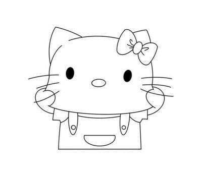 How to draw a manga drawing. How To Draw A Hello Kitty - Step 5