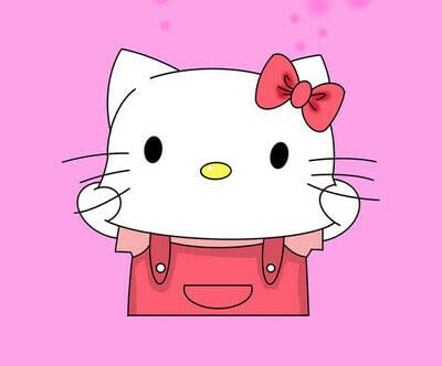 How to draw a manga drawing. How To Draw A Hello Kitty - Step 6