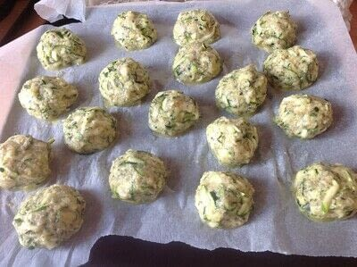 How to cook a vegetable dish. Courgette Bites - Step 2