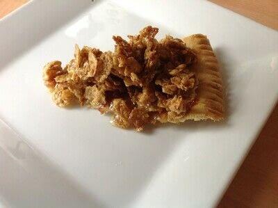 How to bake a sweet pie / sweet tart. Cornflake Tart - Step 9