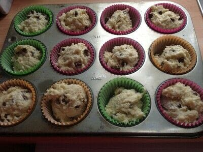 How to bake a chocolate chip muffin. Chocolate Chip Muffins  - Step 4