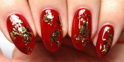 How to paint a nail painting. Loyal, Brave, True - Step 2