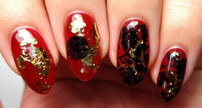 How to paint a nail painting. Loyal, Brave, True - Step 3