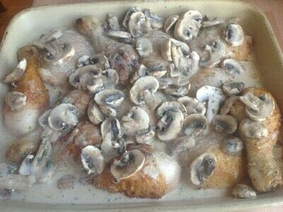 How to cook a chicken dish. Creamy Chicken & Mushrooms - Step 6