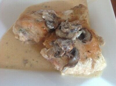 How to cook a chicken dish. Creamy Chicken & Mushrooms - Step 7
